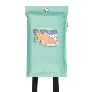 goedgekeurde design blusdeken met camper print