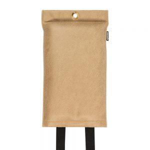 goedgekeurde design blusdeken van caramel kleurig vegan leder