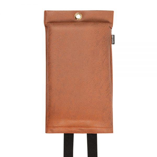 goedgekeurde design blusdeken van cognac kleurig vegan leder